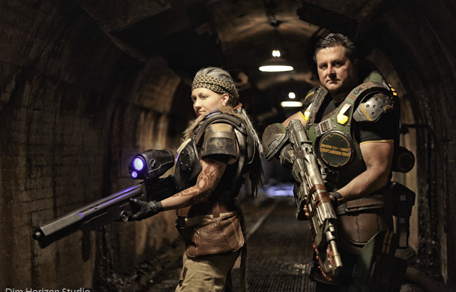 Bernie Mataki & Garron Paduk from the Gears of War video games