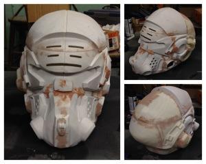 Initial Bondo on helmet