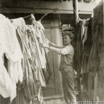 Navy's G.I. Laundry on FanTail of the Evangeline.
