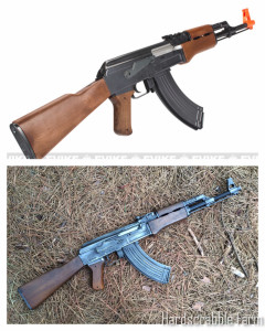 Before/After of the airsoft AK47.