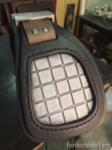 Shotgun Recoil pad after painting/weathering/distressing