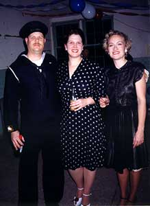Stephanie and Robin with a Sailor