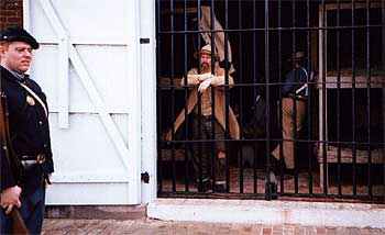 Confederate  prisoners under guard