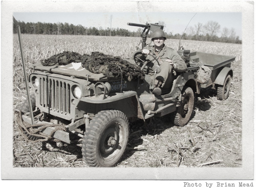 Brian in the 1944 Willys MB