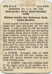 Rifle Maintenance Card